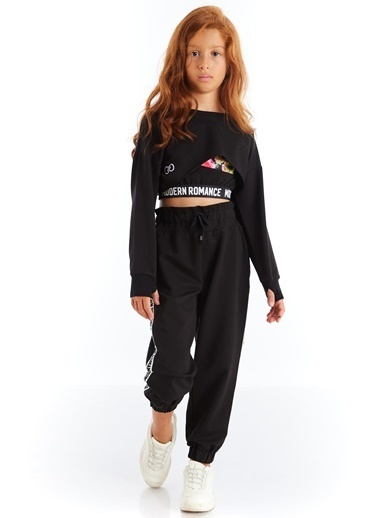 Colorinas Modern Romance şeritli Pantolon   Siyah